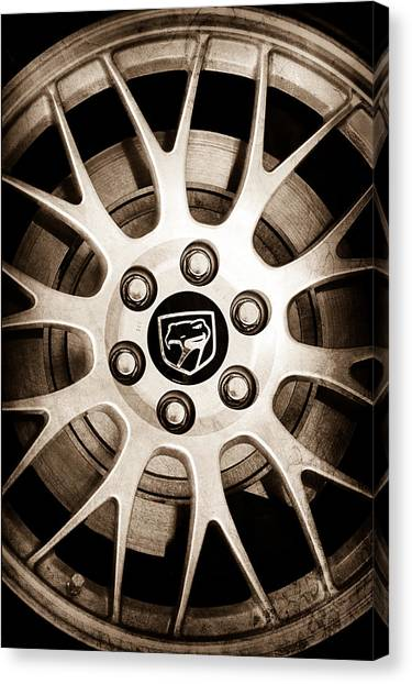 Viper Canvas Print - 1998 Dodge Viper Gts-r Wheel Emblem by Jill Reger