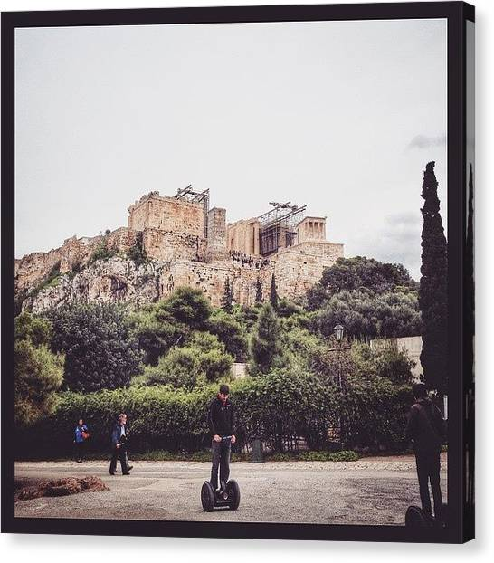 The Acropolis Canvas Print - #2014, #greece, #athens by Kunal Dalvi