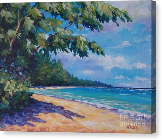 St. Lucia Canvas Print - 7-mile Beach by John Clark