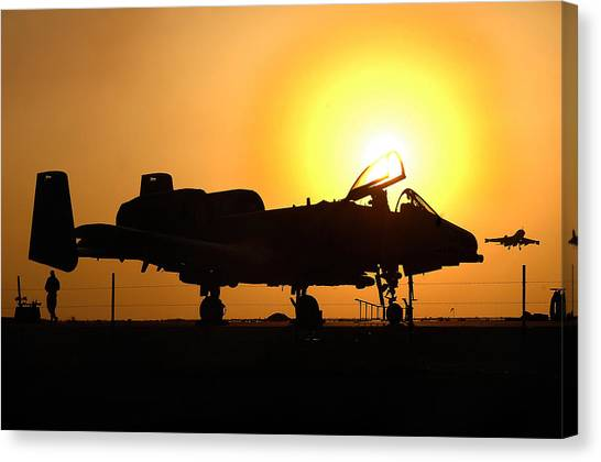 Nato Canvas Print - A-10 Thunderbolt II by Celestial Images