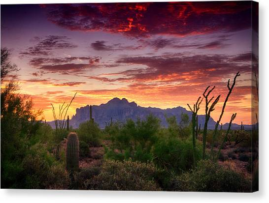 A Superstition Sunrise  Canvas Print