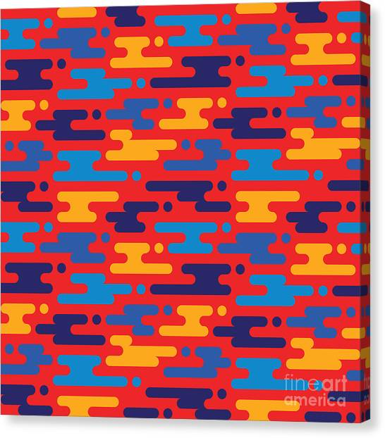 Concept Canvas Print - Abstract Geometric Background - by Sergey Korkin