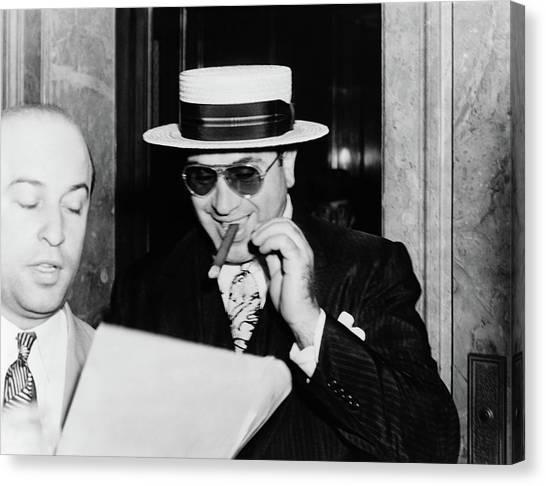 Northwestern University Canvas Print - Al Capone by Granger