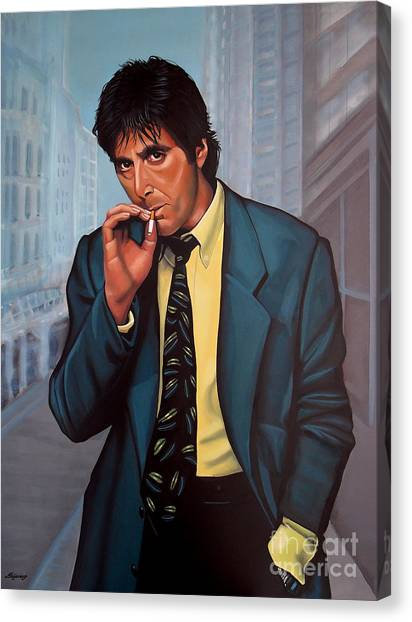 Scarface Canvas Print - Al Pacino 2 by Paul Meijering