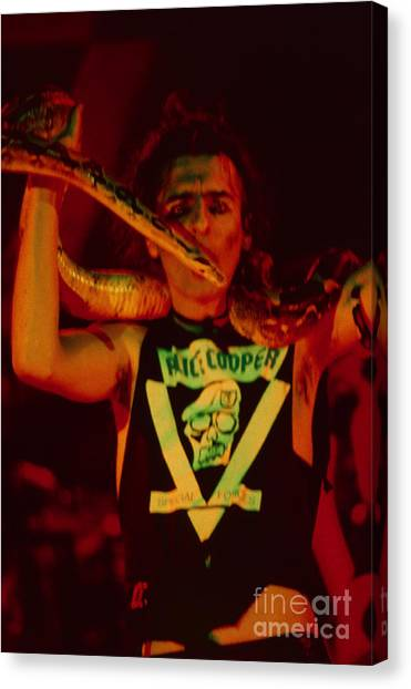 Alice Cooper Canvas Print - Alice Cooper At The Concord Pavillion by Daniel Larsen