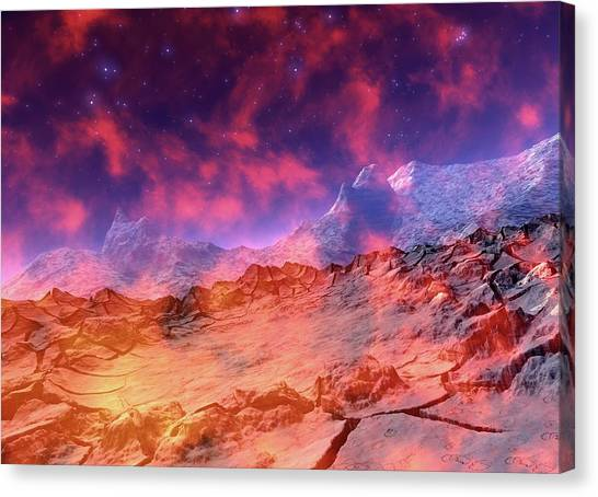 Alien Planet Canvas Print by Victor Habbick Visions/science Photo Library