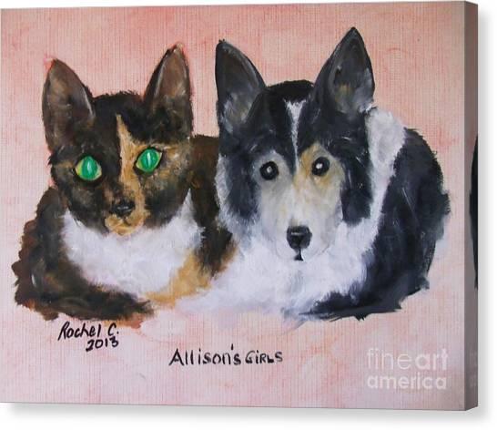 Allisons Girls Canvas Print