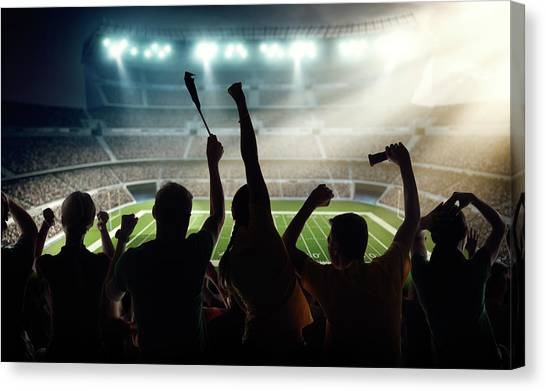 American Football Fans At Stadium Canvas Print by Dmytro Aksonov