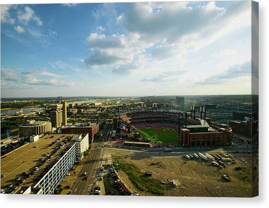 St. Louis Cardinals Canvas Print - An Elevated View Of The Third Busch by Panoramic Images