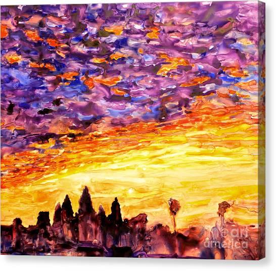 Angkor Sunrise Canvas Print