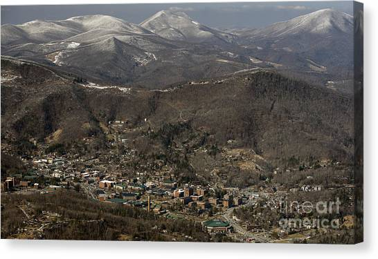 Sun Belt Canvas Print - Appalachian State University In Boone Nc by David Oppenheimer