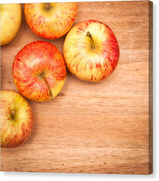 Wooden Canvas Print - Apples by Tom Gowanlock