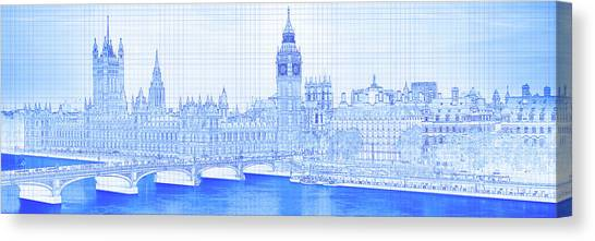 Canvas Print - Arch Bridge Across A River, Westminster by Panoramic Images