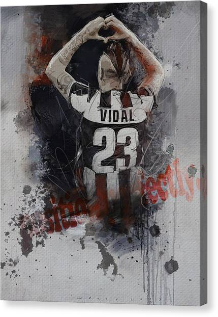 Real Madrid Canvas Print - Arturo Vidal  by Corporate Art Task Force