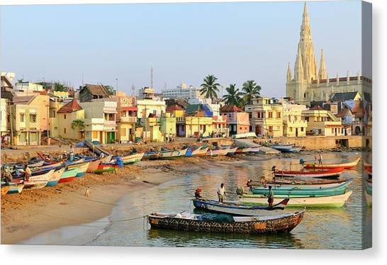 Asia, India, Tamil Nadu, Kanniyakumari Canvas Print by Steve Roxbury