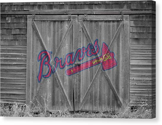 Atlanta Braves Canvas Print - Atlanta Braves by Joe Hamilton