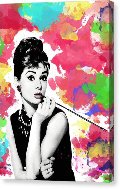 Audrey Hepburn Canvas Print - Audrey Hepburn by Cool Canvas