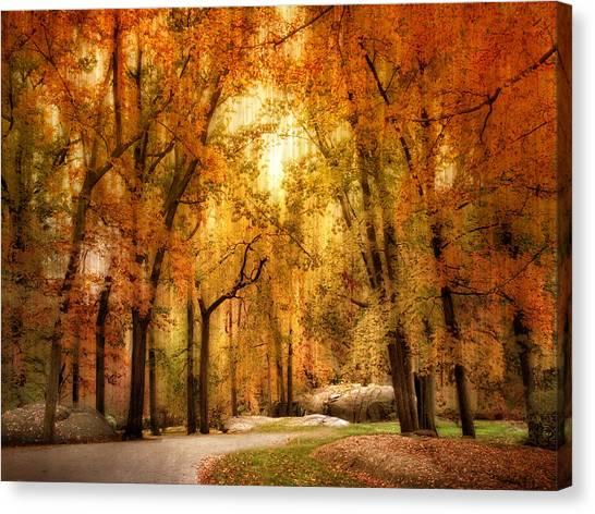 Impressionistic Canvas Print - Autumn Impressions by Jessica Jenney