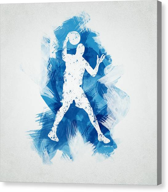 Sport Art Canvas Print - Basketball Player by Aged Pixel