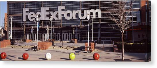 Memphis Grizzlies Canvas Print - Basketball Stadium In The City, Fedex by Panoramic Images