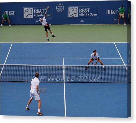 Bb&t Atlanta Open - Day 7 Canvas Print by Kevin C. Cox