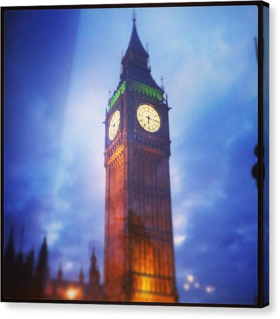 Parliament Canvas Print - Big Ben  by David  Simmons