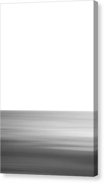 Black And White Abstract Seascape No. 02 Canvas Print