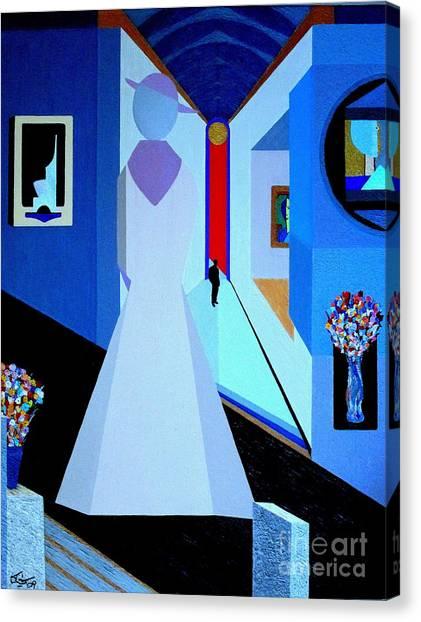 blue d'Orsay Canvas Print