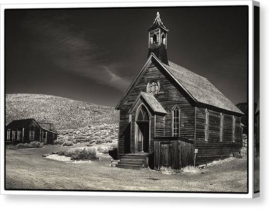 Bodie Church Canvas Print by Robert Fawcett