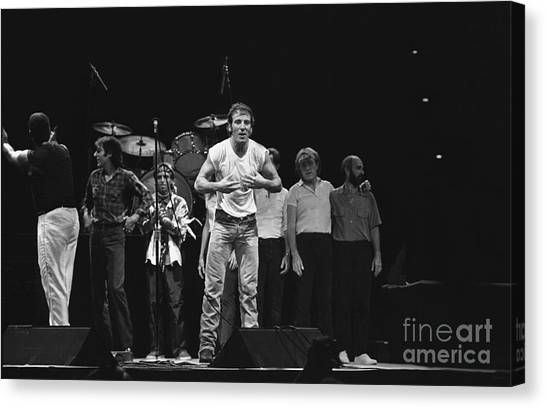 Folk Singer Canvas Print - Bruce Springsteen And The E Street Band by Concert Photos