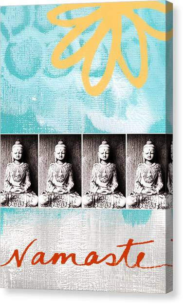 Gym Canvas Print - Buddha by Linda Woods