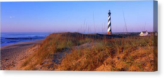 Cape Hatteras Lighthouse Canvas Print - Cape Hatteras Lighthouse On The Coast by Panoramic Images