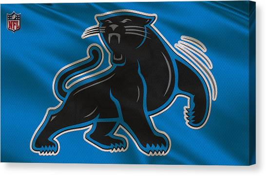 Carolina Panthers Canvas Print - Carolina Panthers Uniform by Joe Hamilton