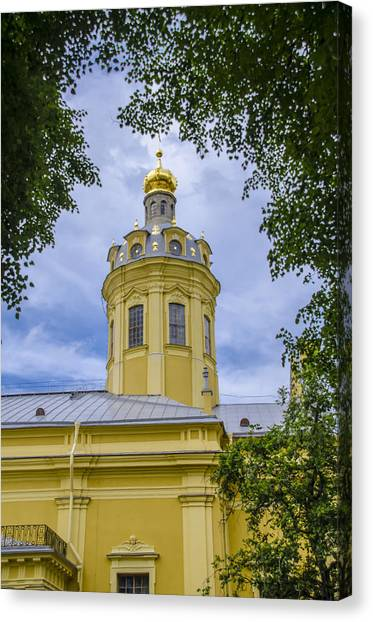 St John The Russian Canvas Print - Cathedral Of Saints Peter And Paul - St Petersburg - Russia by Jon Berghoff