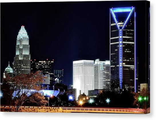 Charlotte Bobcats Canvas Print - Charlotte Towers by Frozen in Time Fine Art Photography