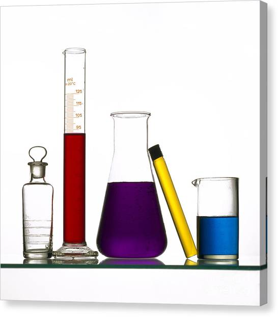 Test Tube Canvas Print - Chemistry by Bernard Jaubert
