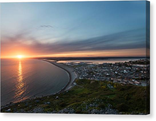 Chesil Beach  Canvas Print by Ollie Taylor