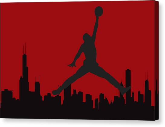 Chicago Bulls Canvas Print - Chicago Bulls by Joe Hamilton