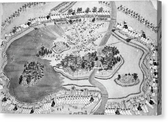 China Town Canvas Print - China Taiping Rebellion by Granger