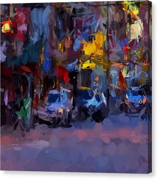 China Town Canvas Print - City Lights by Steve K