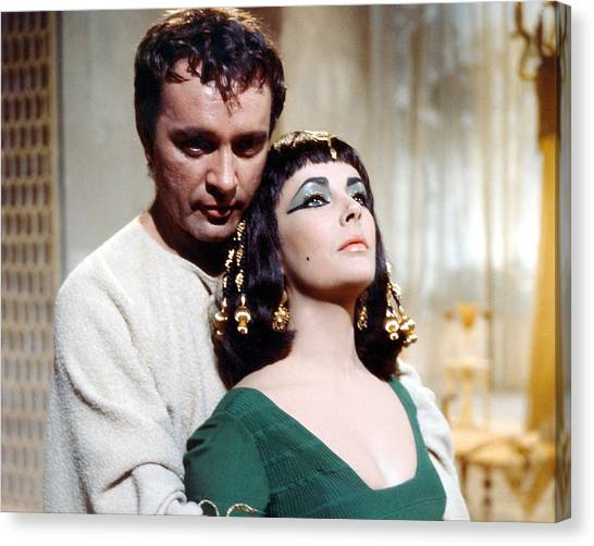 Elizabeth Taylor Canvas Print - Cleopatra  by Silver Screen