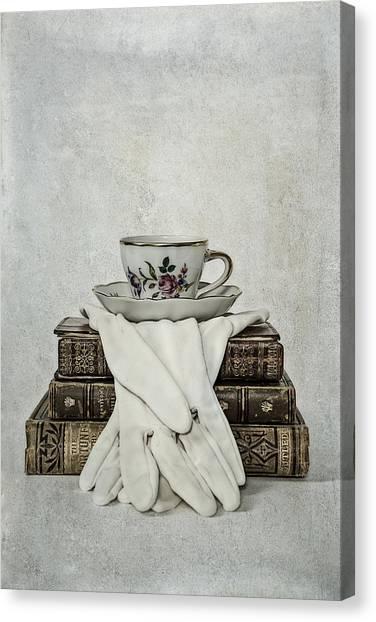 Saucer Canvas Print - Coffee Time by Joana Kruse