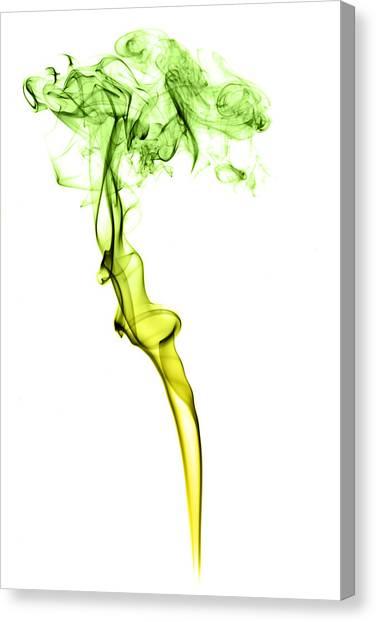Smokey Canvas Print - Colourful Smoke by Samuel Whitton