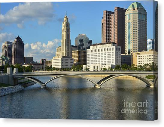 Columbus Ohio Skyline Photo Canvas Print