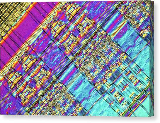 Computer Science Canvas Print - Computer Memory Chip by Alfred Pasieka