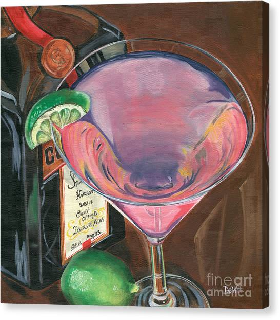 Party Canvas Print - Cosmo Martini by Debbie DeWitt