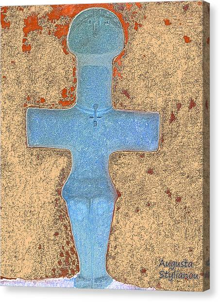 Augusta Canvas Print - Cyprus Idol Of Pomos by Augusta Stylianou