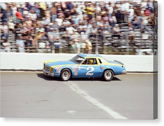 Nascar Canvas Print - Dale Earnhardt by Retro Images Archive