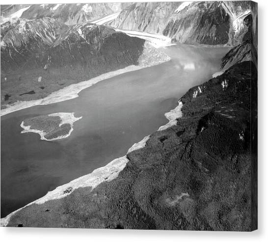 Tsunamis Canvas Print - Damage From 1958 Lituya Bay Tsunami by Us Geological Survey/science Photo Library
