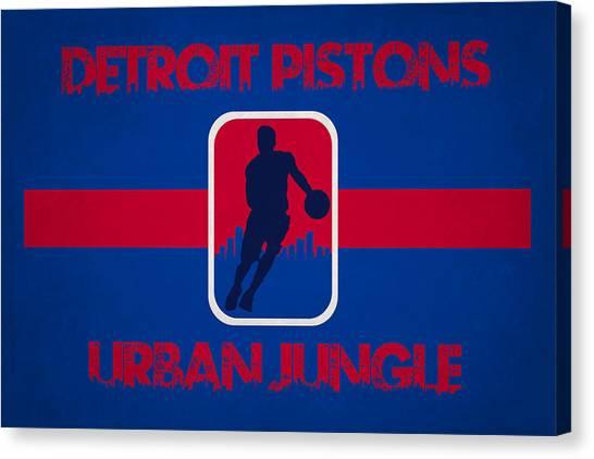Detroit Pistons Canvas Print - Detroit Pistons by Joe Hamilton